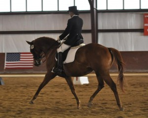 My dressage trainer, Elaine Marion, with Flynn