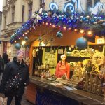 Gitte at the Christmas market