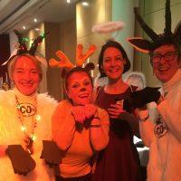 JoEllen Carter & me as Rocky Mountain Goats, joined by Viktorija Manevska and Vanya