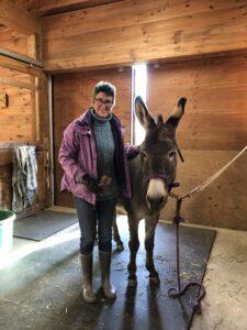 Lisa & Marsela in the barn