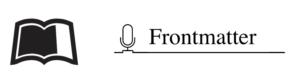 FrontMatter Podcast Logo